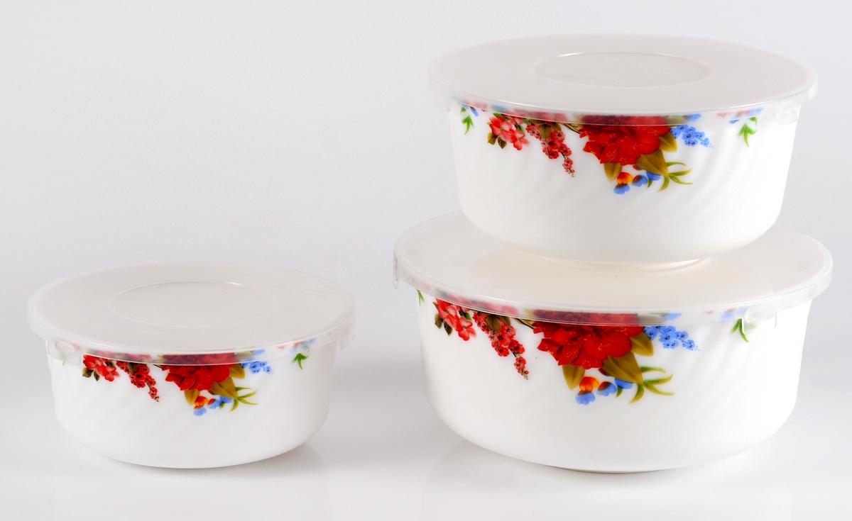 Набор столовой посуды Olaff Наранга, с крышками, 3 предмета салатник набор 6шт 600 мл ens салатник набор 6шт 600 мл