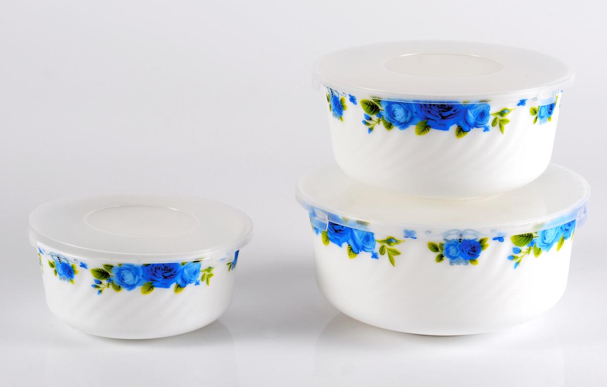 Набор столовой посуды Olaff Пасадена, с крышками, 3 предмета салатник набор 6шт 600 мл ens салатник набор 6шт 600 мл