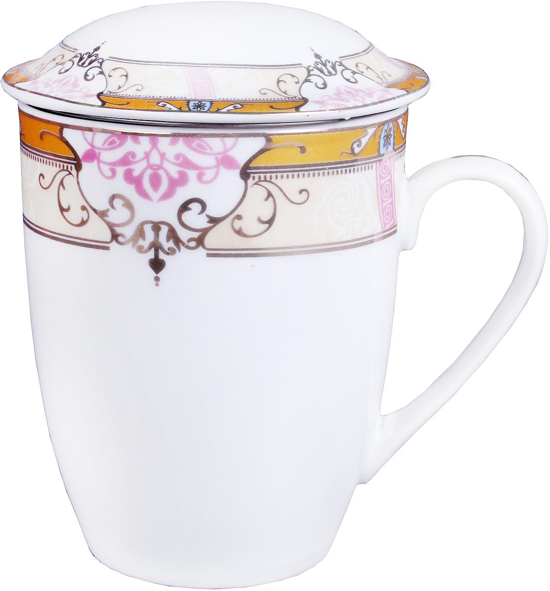 Кружка заварочная Olaff Mug Cover, с ситечком, 350 мл. LRG-MSCM-004LRG-MSCM-004Заварочная кружка Olaff Mug Cover изготовлена из фарфора. Изделие оснащено крышкой и металлическим ситечком. Благодаряситечку вы сможете заваривать чай непосредственно в кружке. Крышка дольше сохранит ваш напиток горячим.Кружка сочетает в себе оригинальный дизайн и функциональность. Благодаря такой кружке пить напитки будет еще вкуснее. Кружка Olaff Mug Cover согреет вас долгими холодными вечерами. Объем кружки: 350 мл.