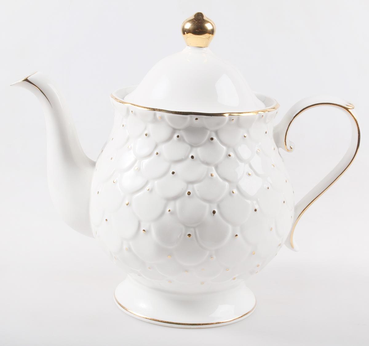 """Заварочный чайник Olaff """"Лепестки"""" поможет вам в приготовлении вкусного и ароматного чая, а также станет украшением вашей кухни. Он изготовлен из фарфора и оформлен красочным изображением. Нежные """"лепестки"""" придают чайнику особый шарм, чайник удобен в использовании и понравится каждому.  Такой заварочный чайник станет приятным и практичным подарком на любой праздник."""