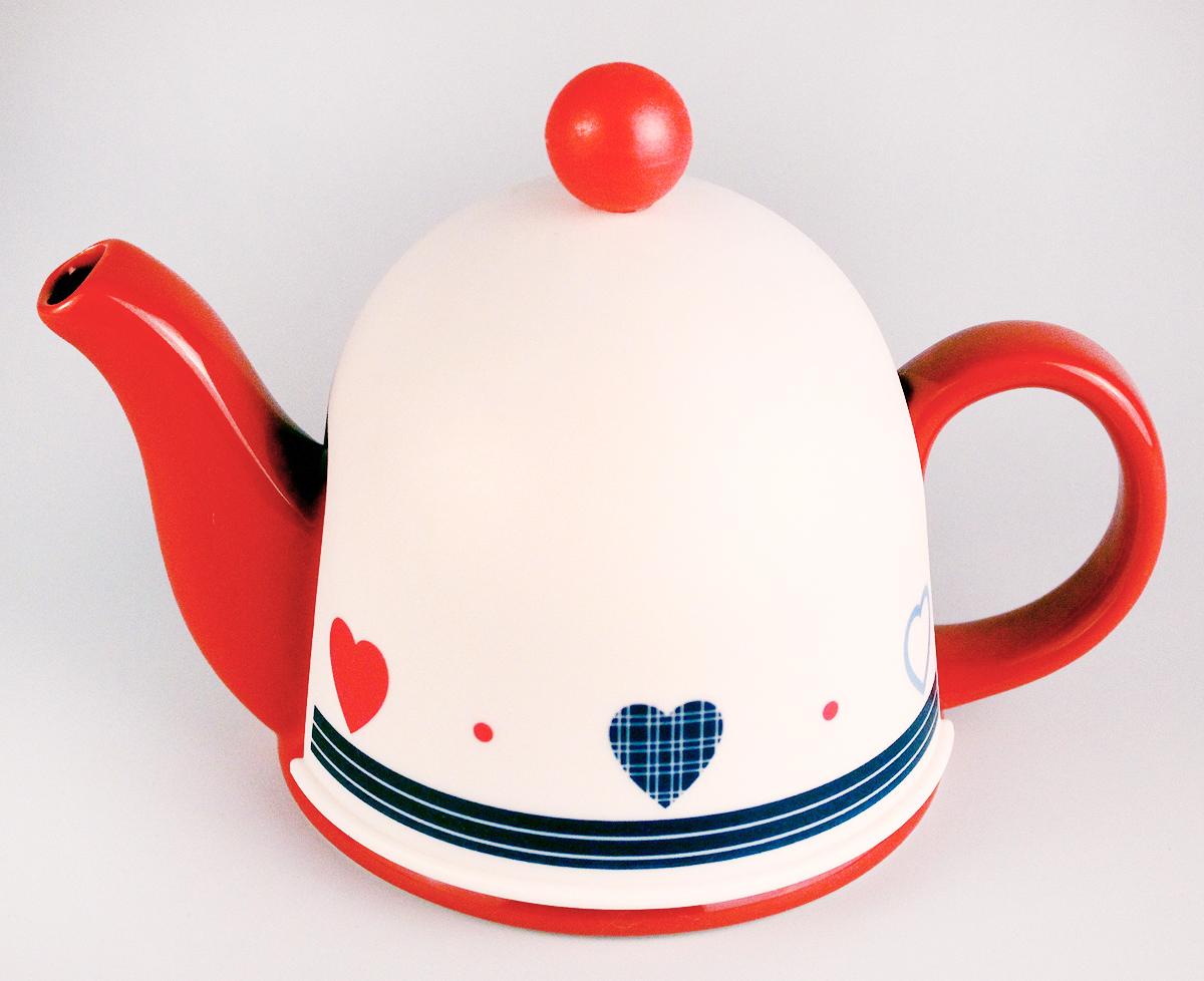Чайник заварочный Elrington Домик, 450 мл. SFYT027S-27SFYT027S-27Чацники Домик, чайник 450мл с метал.фильтром, пластик.крышка д/сохранения температуры, упаковка - цвет.бокс