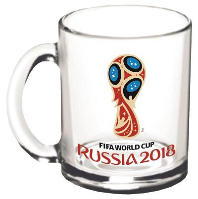 Кружка с изображением эмблемы чемпионата мира по футболу 2018. Станет отличным подарком близким, друзьям или просто коллегам по работе.