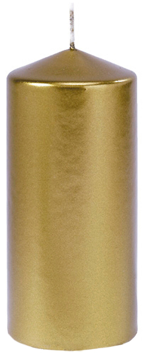 Свеча Duni Candles Pillar Matt, цвет: золотой, 15 х 7 см152898Теплый и мягкий свет свечи — отличный способ создать в комнате приятную, романтическую атмосферу. Такого эффекта вы не сможете добиться ни с одной искусственной светодиодной свечой! Живой, мерцающий огонек способен поднять настроение, и даже самая обычная комната приобретает особую атмосферу уюта, очарования и покоя. К тому же свечи являются отличным средством для снятия усталости, раздражительности и грусти.