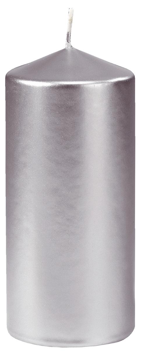 Свеча Duni Candles Pillar Matt, цвет: серебро, 15 х 7 см фантазер мастерская лепки глиняная свеча живой огонек