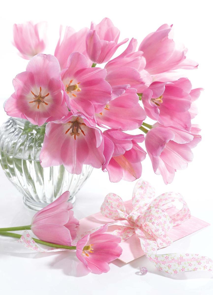 Пакет подарочный Eureka Розовые тюльпаны, 26 x 32,5 x 12,5 см eureka короткое платье