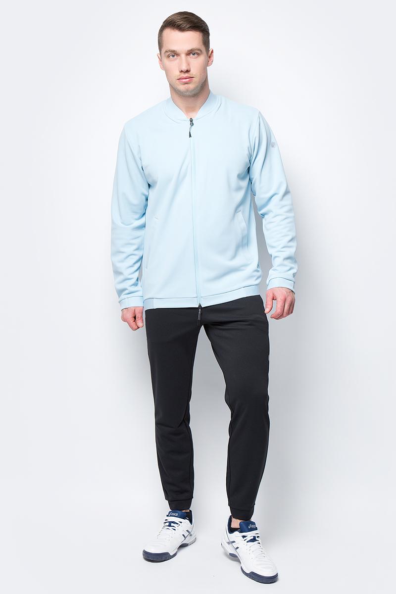 Ветровка мужская Asics Knit Bomber Jacket, цвет: голубой. 153436-8099. Размер L (48)153436-8099