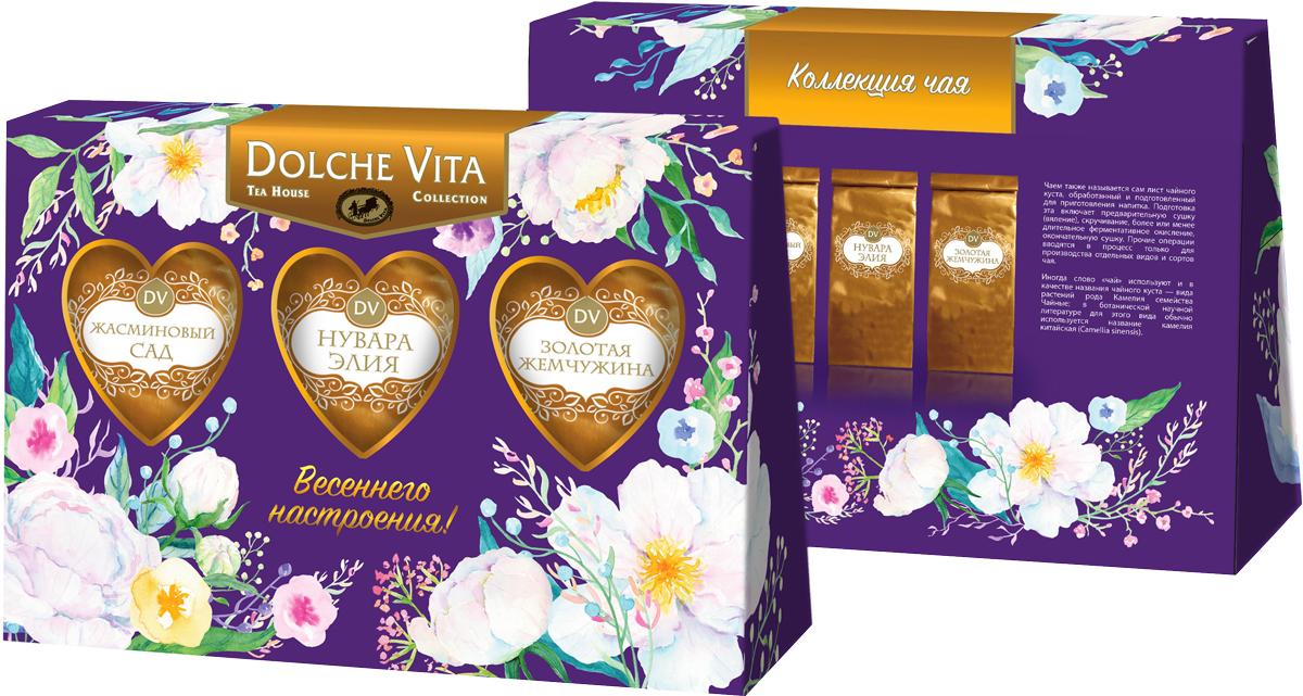 Dolche Vita От всего сердца подарочный набор 3 вида чая, 120 г nadin подарочный набор 4 вида чая 200 г