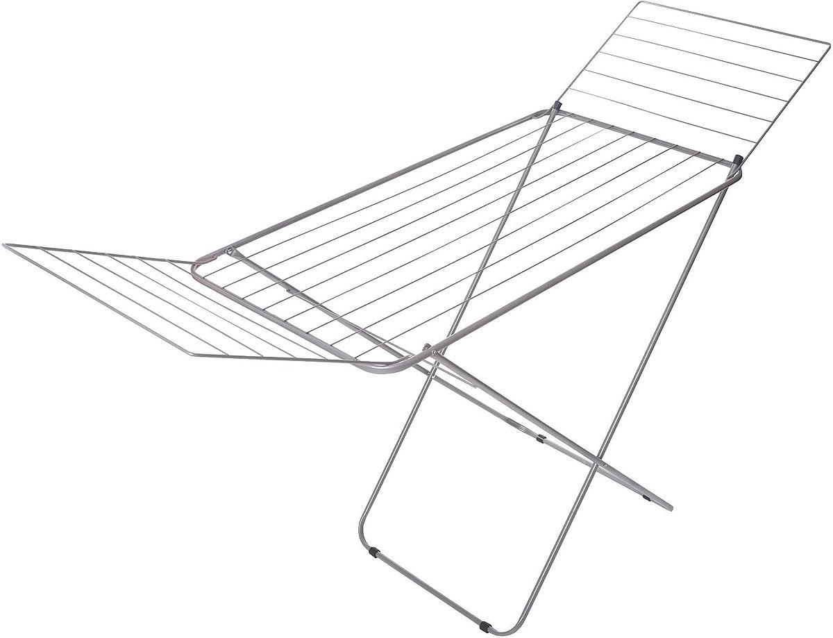Сушилка для белья HITT Vega, напольная, 179 х 105 х 54 смК2882Напольная сушилка для белья Hitt Vega для повседневного использования. Удобная и надежная конструкция с крыльями позволяет развесить максимальное число вещей. Безопасные крепления не сломаются даже при частом использовании. Пластиковые заглушки препятствуют скольжению. Сушилка легко собирается и убирается в кладовку или шкаф. Не требует специально установки или сложной сборки. Между прутьями достаточно расстояния, белье не будет соприкасаться друг с другом. Сушилка выдерживает большую нагрузку, позволяет повесить массивные вещи.Может использоваться как дополнительное место для сушки и как основное.