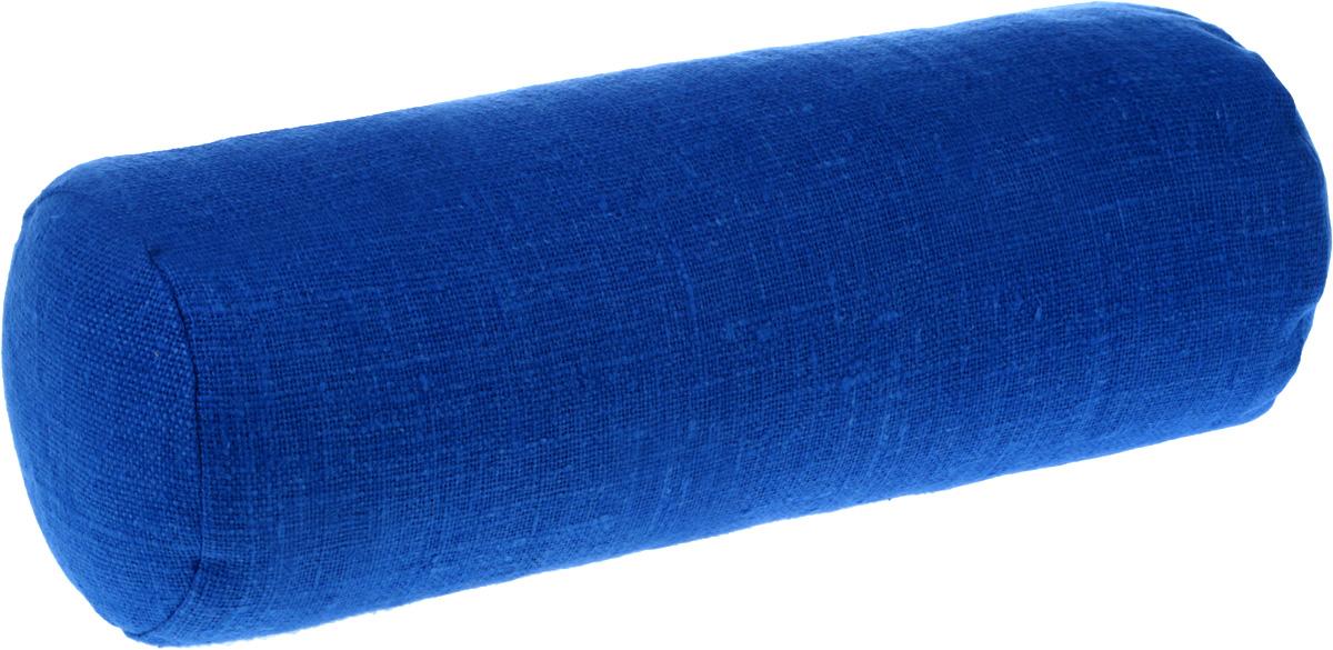 Подушка ортопедическая Эко. Валик, цвет: васильковый, 40 х 15 см7васНаполнителем этих уникальных, по своим свойствам,подушек является экологически чистаялузга гречихи, помещенная в чехол из х/б ткани и наволочку из 100% льна которая не скользит.Есть молния для снятия наволочки и ручка для переноса.