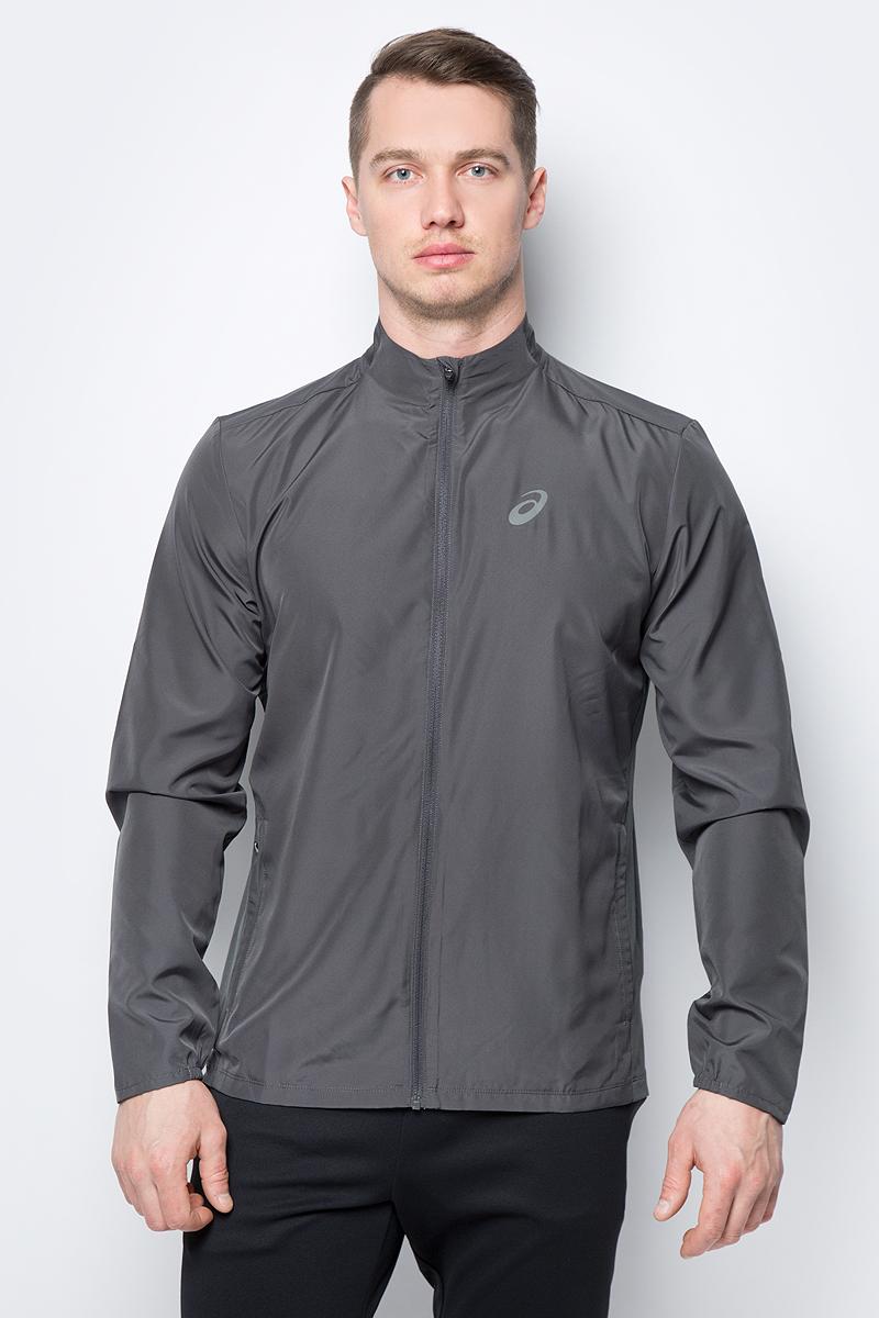 цена на Ветровка мужская Asics Jacket, цвет: темно-серый. 134091-0779. Размер XL (50)