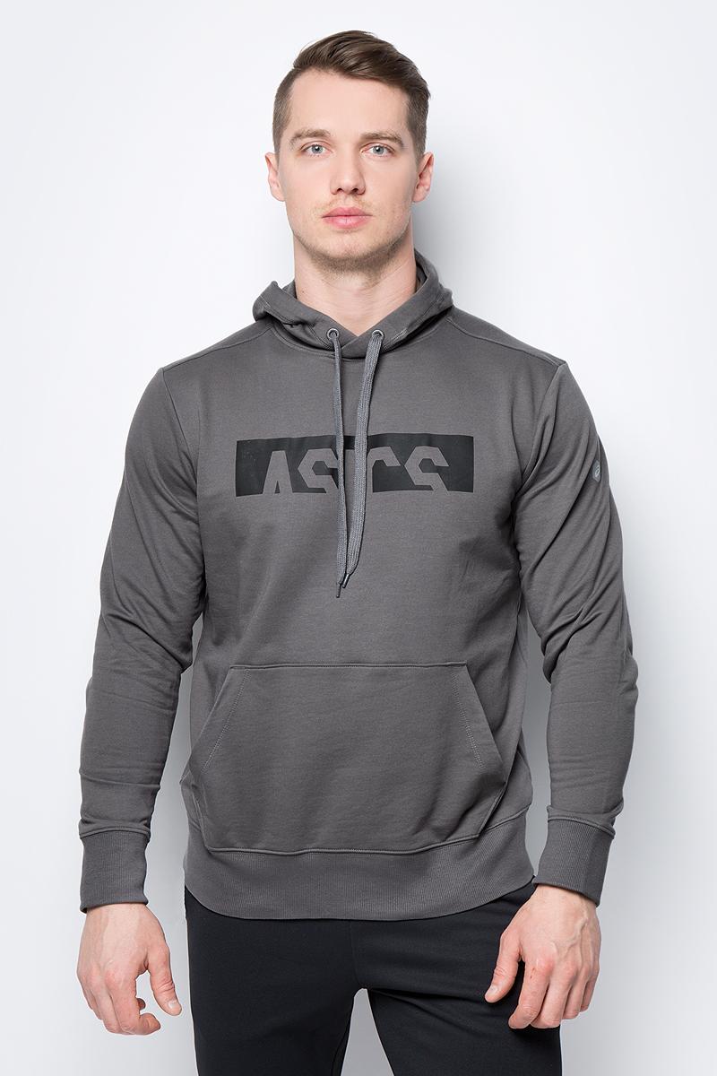 Толстовка мужская Asics ESNT DBL GPX OTH HDY, цвет: серый. 155230-0720. Размер XXL (52)