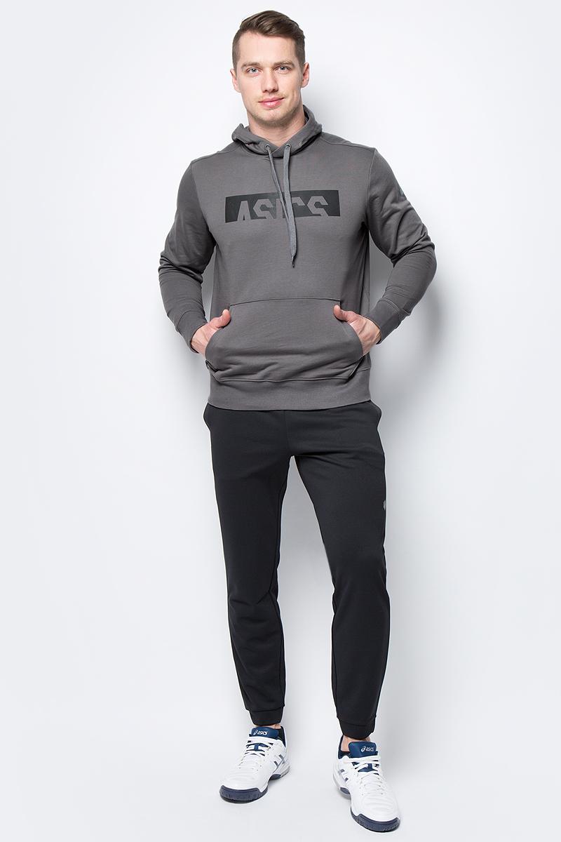 Толстовка мужская Asics ESNT DBL GPX OTH HDY, цвет: серый. 155230-0720. Размер XL (50)155230-0720Толстовка от Asics выполнена из высококачественного материала. Модель с длинными рукавами и капюшоном спереди дополнена карманом кенгуру. Манжеты рукавов и низ изделия дополнены трикотажными резинками.