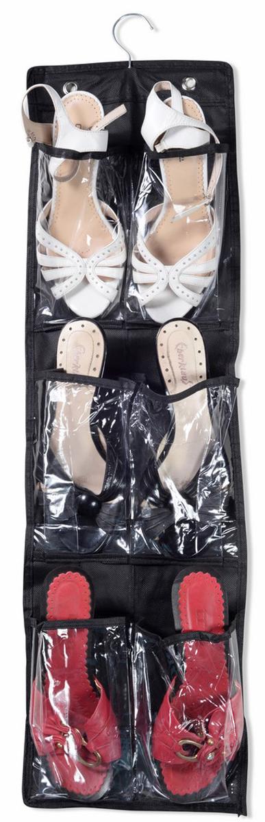 Органайзер для обуви Ruges Слайд-3, подвесной, цвет: черный, 85 х 23 х 0,2 смD-273 пары тапочек можно подвесить в шкаф и они больше не будут путаться под ногами. Органайзер для обуви Ruges Слайд-3 крепится с помощью крюка вешалки в верхней части и необязательно в шкаф. Для ежедневного использования отлично подойдет и стена в коридоре.В органайзер поместятся не только тапочки, но и другая обувь без каблуков. Идеальнодля хранения сезонной обуви - собрали все лето и повесили на хранение.