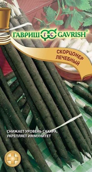 Семена Гавриш Скорцонер. Лечебный4601431034433Двулетнее Для диетического питания;Для консервирования растение из семейства Астровые, которое можно выращивать как однолетнее. В первый год жизни образует стержневой, цилиндрический, мясистый корень (60-80 г), покрытый опробковевшей черной или темно-коричневой кожурой. Морозостойкое растение, предпочитает глубоко обработанные, рыхлые, богатые органикой легко- или среднесуглинистые почвы. Выращивают посевом в открытый грунт на глубину 2-3 см: ранней весной (в апреле) для уборки осенью; летом (в конце июля) или под зиму (в октябре) для уборки весной и для получения семян. Благодаря содержанию инулина, витаминов и минеральных веществ, корни обладают ценными лекарственными и пищевыми свойствами. Имеют приятный сладковатый вкус. Используются в пищу в отварном, жареном, тушеном и запеченном виде, а также в свежем виде в салатах. Употребление скорцонера способствует нормализации обмена веществ, снижению сахара в крови при сахарном диабете, укреплению имунной системы, быстрому восстановлению сил после болезни или операции.