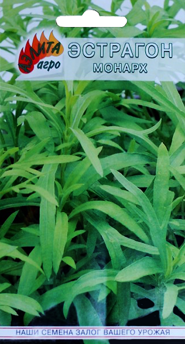 Семена Аэлита Эстрагон. Монарх4601729085444Растение - целитель. Многолетнее растение с приятным пряным запахом и освежающим острым вкусом. Прямостоячий куст высотой до 1.5 м состоит из многочисленных стеблей с узкими листьями.Свежую зелень используют как салатную и пряную приправу в кулинарии, при консервировании и засолке, готовят тонизирующие напитки. Ароматичность сохраняется и в сушеных листьях.Тархун издавна применяют как сильное противоцинготное и мочегонное средство, при авитаминозах, для возбуждении аппетита и улучшения пищеварения.Ценность сорта: высокое содержание аскорбиновой кислоты, каротина и эфирных масел.Как выращивать семена эстрагона МонархНа рассаду в рассадные ящики в начале марта (всходы появляются через 15-20 суток), с последующей пикировкой в рассадник по схеме 5x5 см. Через 60 дней рассаду высаживают на постоянное место, расстояние между рядами 60-70 см, между растениями 30-40 см.Эстрагон холодостоек, хорошо зимует в открытом грунте. К почвам не требователен, (но не переносит переувлажненных, кислых почв).На одном месте может расти 8-10 лет.Дальнейший уход заключается в рыхлении, прополке, поливе и подкормках.К уборке зелени рекомендуется приступать на 2 год. За сезон проводят 3-4 срезки. Убирают молодую (неодревесневшую) зелень, достигшую высоты 25-30 см.