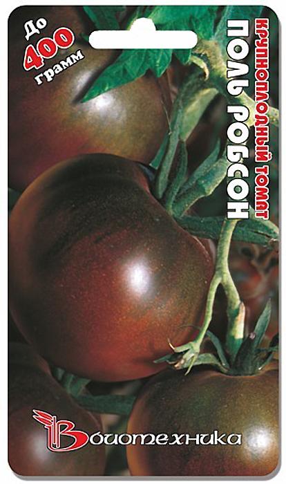 Семена Биотехника Томат. Поль Робсон4606362030387Растение высокорослое, требует пасынкования.От всходов до начала плодоношения 115-120 дней. Плод крупный, круглой формы, малосемянный, в кисти 4-5 плодов, обычно растение формируют в 1 -2 стебля, оставляя 4-5 кистей.Для достижения максимальной крупноплодности необходимо: -размещать на 1 м2 не более трех растений;-при высадке рассады добавить в подготовленную лунку столовую ложку смеси суперфосфата с сульфатом калия;-в процессе вегетации проводить полив только при сильной засухе;-формировать растение в 1-2 стебля, оставляя не более 3-4 кистей на каждый стебель;-во время формирования плодов провести корневую подкормку сульфатом магния;