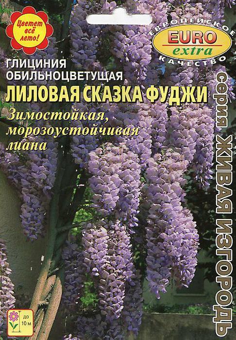 Семена Аэлита Глициния. Лиловая сказка Фуджи4607160507941Глициния- крупная декоративная лиана, с крупными, сложными листьями до 40 см. Это растение будет радовать Вас обильным цветением в течение всего лета. Эффектные, крупные, размером до 50 см, соцветия нежного фиолетово-голубого окраса постепенно распускаются и увядают, создавая иллюзию сказочного облака.Всхожесть: 95%
