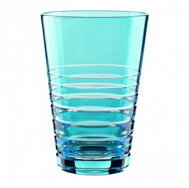 """Набор Nachtmann """"Sixties Rondo. Aqua"""", выполненный из цветного бессвинцового хрусталя с  геометрическим узором, состоит из двух стаканов яркой барной коллекции Sixties Rondo.  Рельефная поверхность стакана приятно ощущается в руке. Такой набор подойдет и для  каждодневного использования и украсит праздничный стол."""