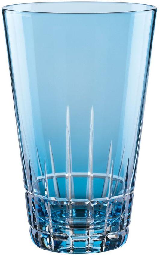 """Набор Nachtmann """"Sixties Stella. Aqua"""", выполненный из цветного бессвинцового хрусталя с  геометрическим узором, состоит из двух высоких стаканов яркой барной коллекции Sixties Stella.  Рельефная поверхность стакана приятно ощущается в руке. Такой набор подойдет и для  каждодневного использования и украсит праздничный стол."""