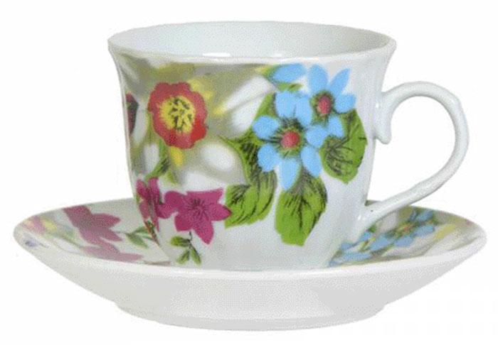 Чайная пара Olaff Round Box, 220 мл. DL-F1GB-181DL-F1GB-181Round Box, набор чайный (2) чашка 220мл + блюдце, круглая подарочная упаковка с окошком