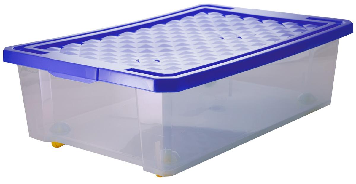 Ящик для хранения BranQ Optima, на колесиках, цвет: белый, прозрачный, 30 лBQ2574_белый, прозрачныйУниверсальный ящик для хранения BranQ Optima, выполненный из прочного пластика, поможет правильно организовать пространство в доме и сэкономить место. В нем можно хранить все, что угодно: одежду, обувь, детские игрушки и многое другое. Прочный каркас ящика позволит хранить как легкие вещи, так и переносить собранный урожай овощей или фруктов. С помощью колесиков на дне изделия ящик легко перемещать по комнате. Изделие также оснащено крышкой, которая защитит вещи от пыли, грязи и влаги.