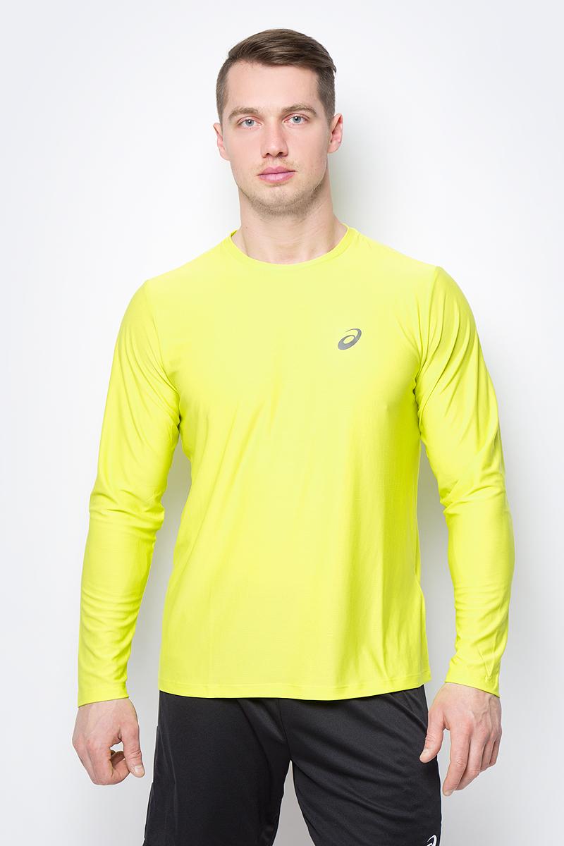 Лонгслив мужской Asics LS Top, цвет: желтый. 134088-0486. Размер XL (50) лонгслив мужской asics ls 1 2 zip jersey цвет темно синий 154589 1273 размер xl 50