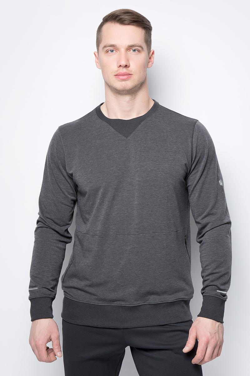 Свитшот мужской Asics Crew Top, цвет: темно-серый. 154590-0773. Размер XXL (52)