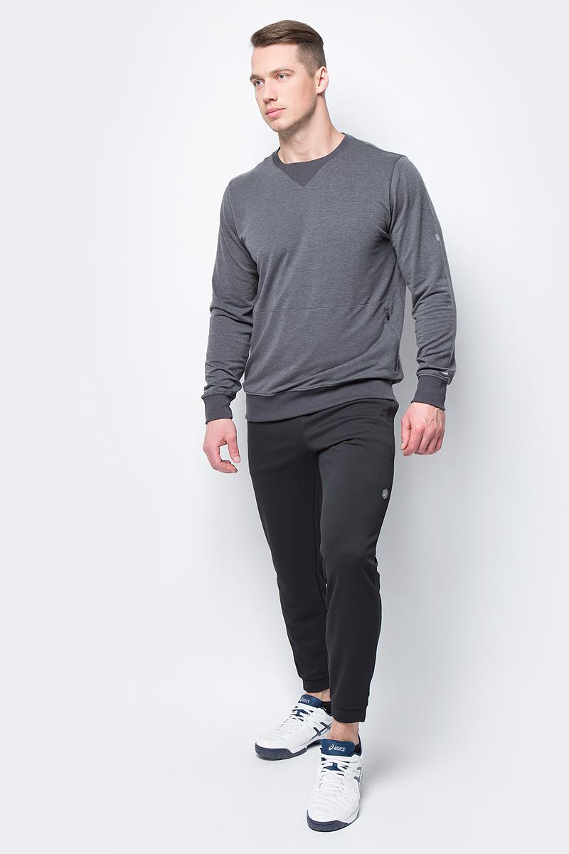 Брюки спортивные мужские Asics Knit Track Pant, цвет: черный. 153374-0904. Размер XL (50)153374-0904Спортивные брюки от Asics выполнены из высококачественного полиэстера. Модель с эластичной резинкой на талии.