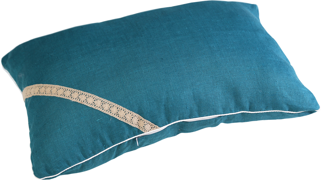 Подушка Bio-Textiles Кедровая магия, наполнитель: кедр, цвет: бирюзовый, 30 х 40 см world textiles a sourcebook