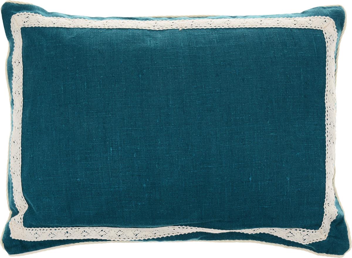 Подушка Bio-Textiles Кедровое очарование, наполнитель: кедр, цвет: бирюзовый, 30 х 40 см world textiles a sourcebook