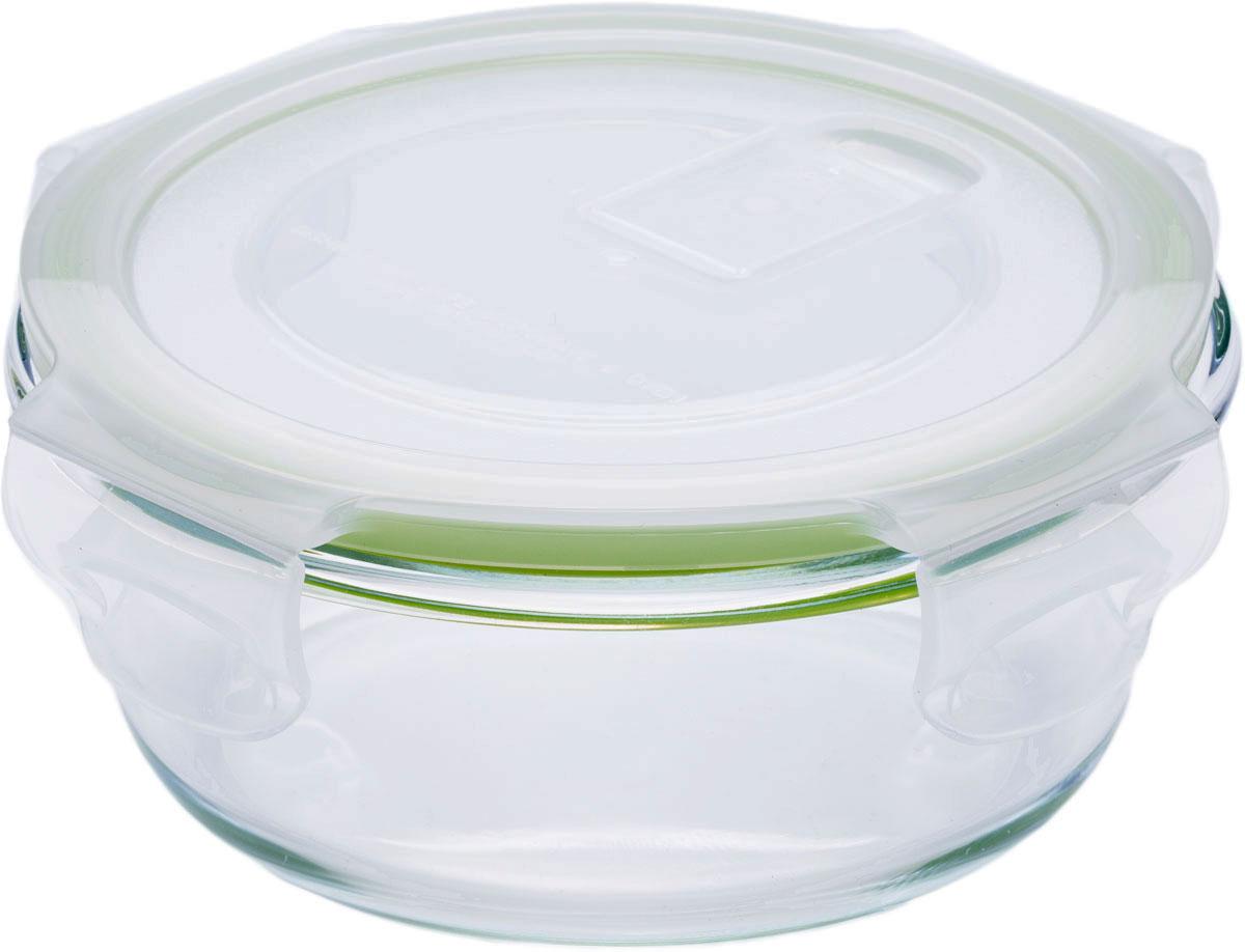 """Круглый пищевой контейнер """"Eley"""" выполнен из жаропрочного боросиликатного стекла. Крышка Air Lock изготовлена из полипропилена и  оснащена силиконовым уплотнителем, для обеспечения полной герметичности внутри контейнера. В крышку встроен вентиляционный клапан для  удобства использования в холодильных и морозильных камерах.  Он подходит для использования в микроволновой печи и духовке (без крышки). Подходит для использования в холодильнике и морозильной камере. Подходит для использования в посудомоечной машине.  Контейнер можно использовать как форму для запекания (до +400 С)."""