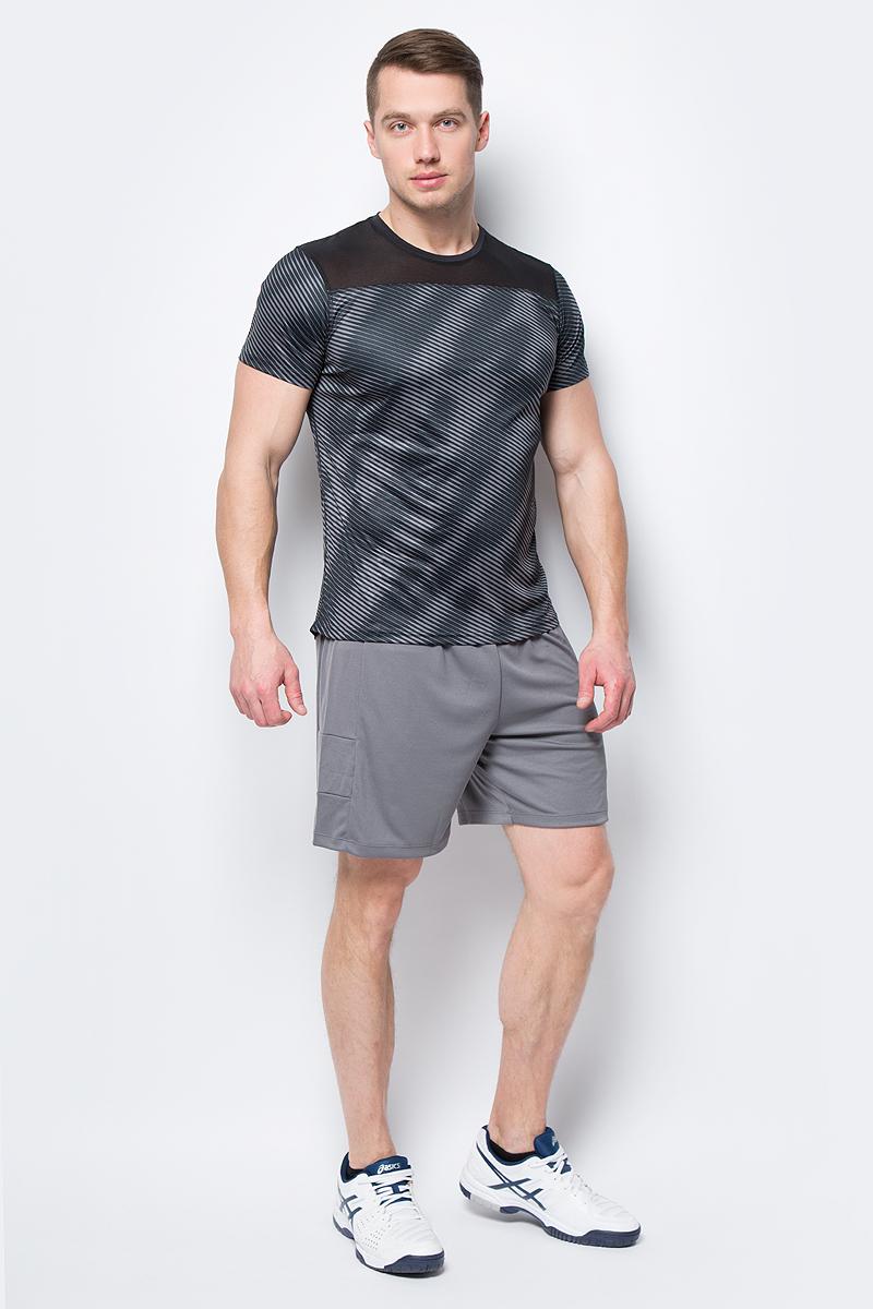 Футболка мужская Asics True Prfm SS GPX Top, цвет: черный. 155217-1283. Размер XXL (52)