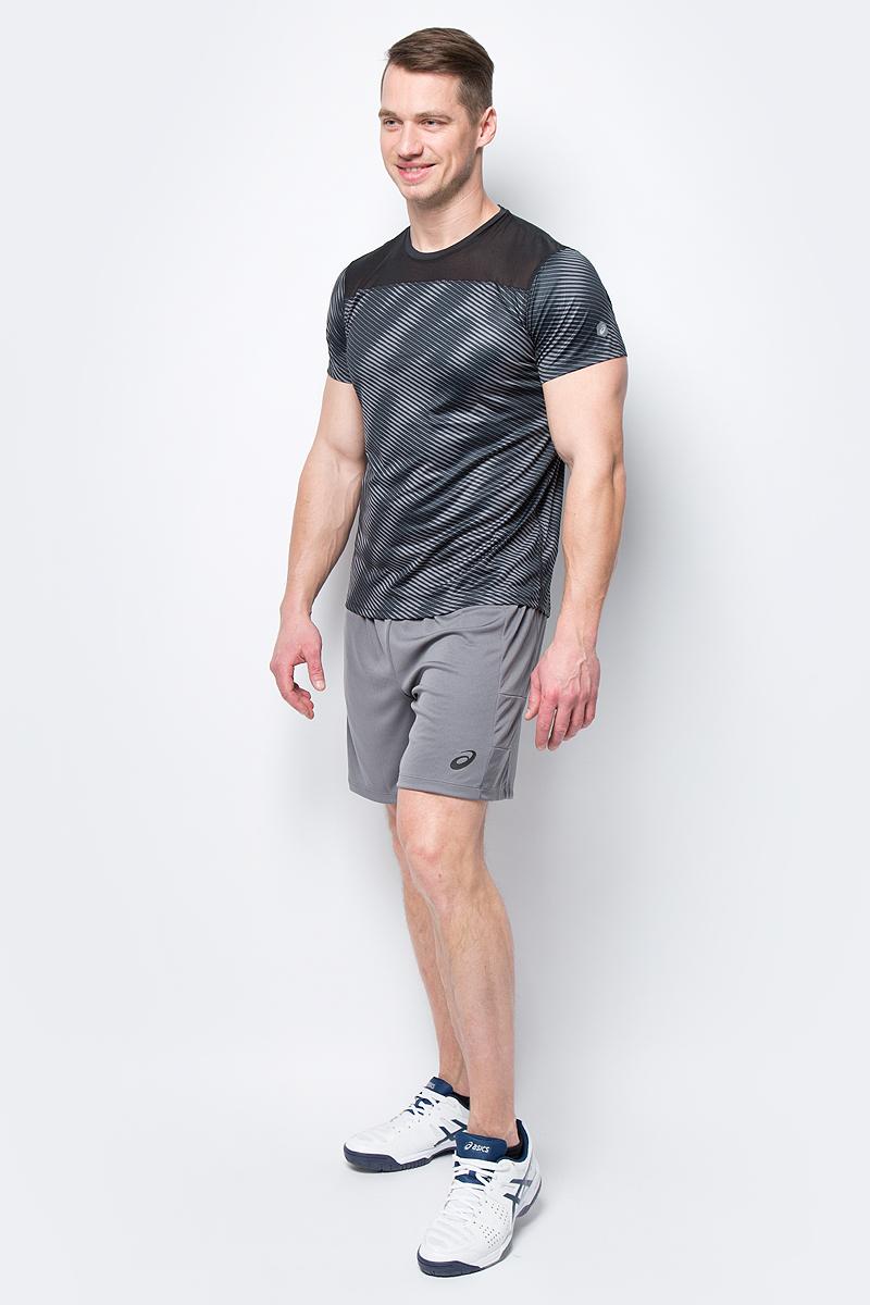 Шорты мужские Asics Short, цвет: серый. 155239-0720. Размер S (44)155239-0720