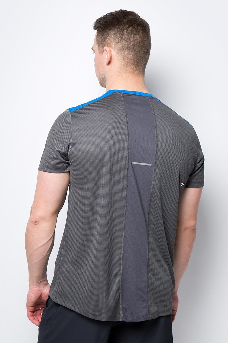 Футболка мужская Asics SS Top выполнена из высококачественного материала. Модель с короткими рукавами оформлена логотипом бренда.