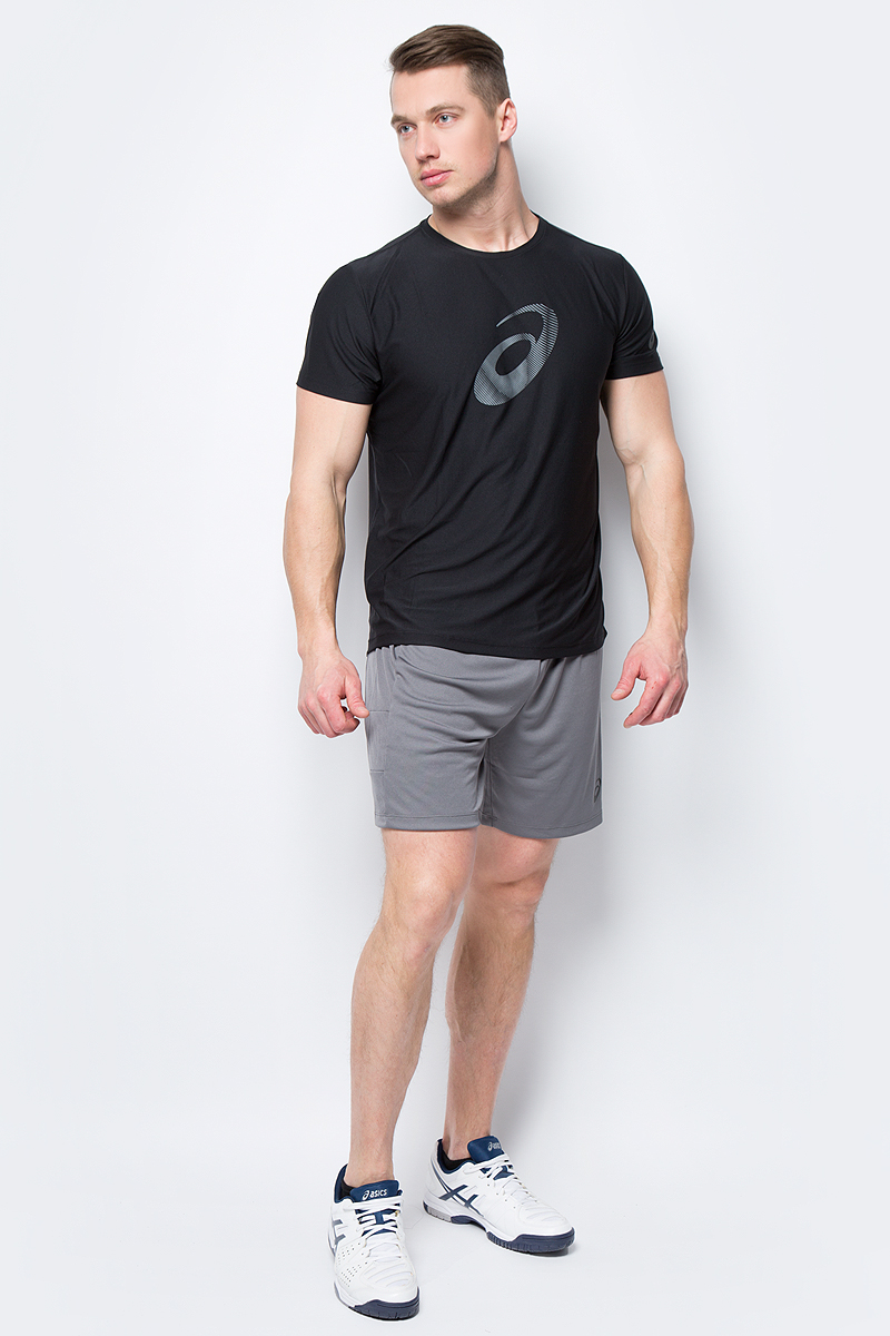Футболка мужская Asics Graphic SS Top, цвет: черный. 134085-0942. Размер XXL (52) футболка asics футболка asics stripe ss top