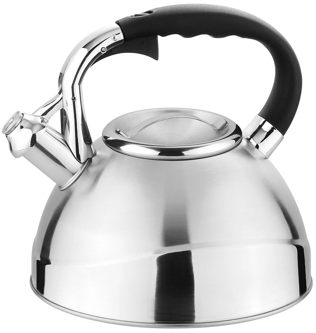 """Чайник """"TimA"""" имеет современный внешний вид, удобный механизм открывания носика, эргономичную ручку из приятного на ощупь нескользящего материала. Корпус чайника выполнен из высококачественной нержавеющей стали AISI 304, покрывающая пластина капсулированного дна из стали AISI 430, что позволяет использовать чайник на индукционной плите."""