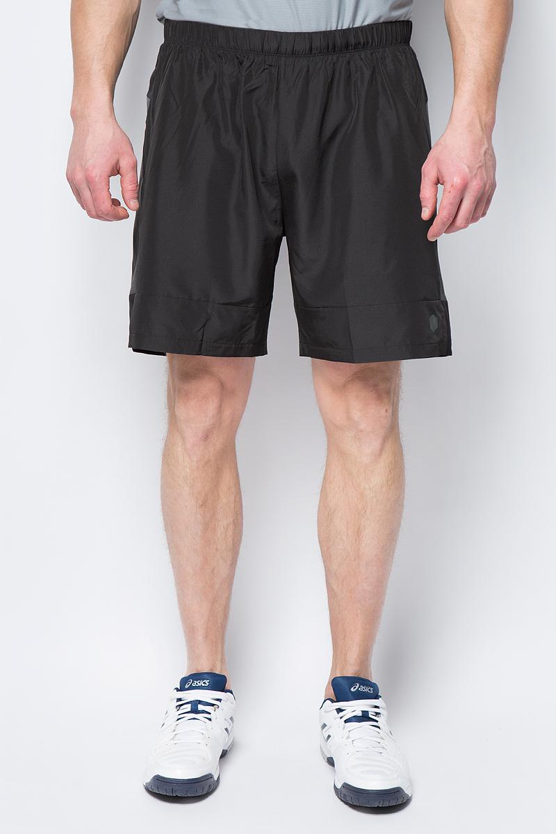 Шорты мужские Asics 7IN Short, цвет: черный. 154258-0779. Размер XXL (52)154258-0779Спортивные шорты для бега от Asics выполнены из высококачественного полиэстера. Модель с эластичной резинкой на талии.