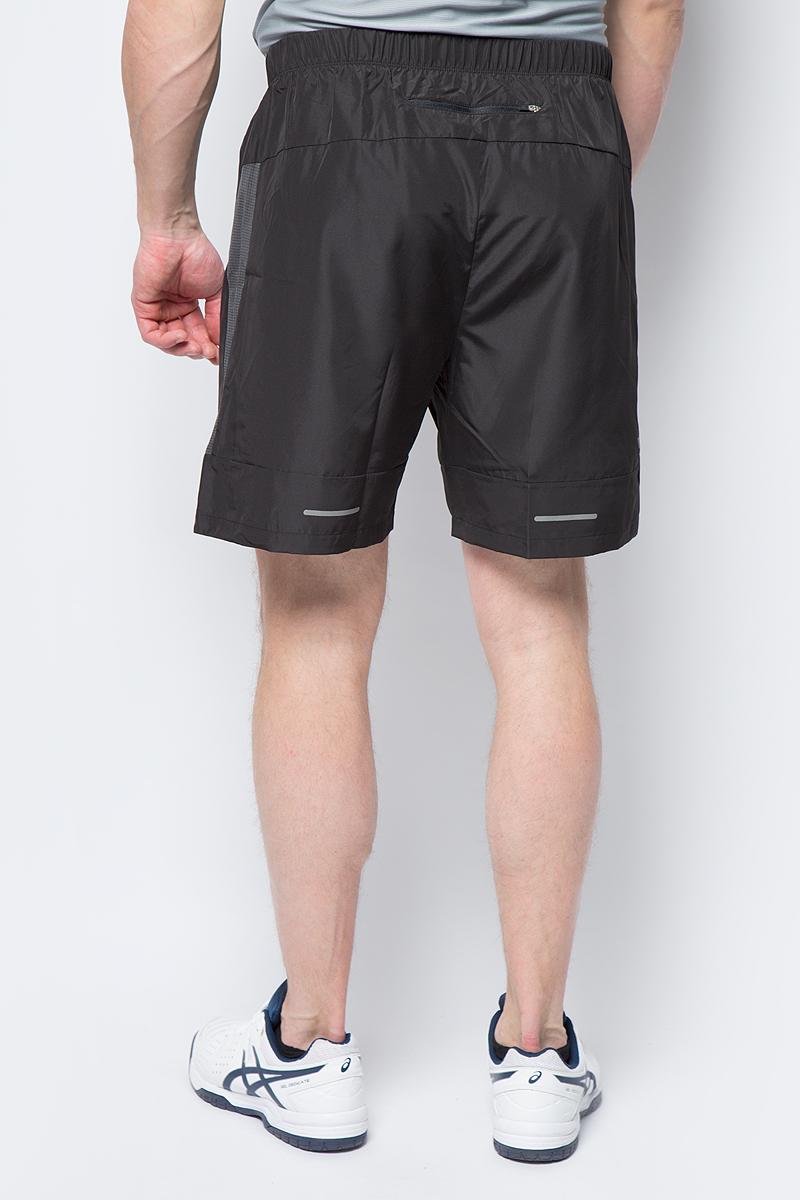 Спортивные шорты для бега от Asics выполнены из высококачественного полиэстера. Модель с эластичной резинкой на талии.