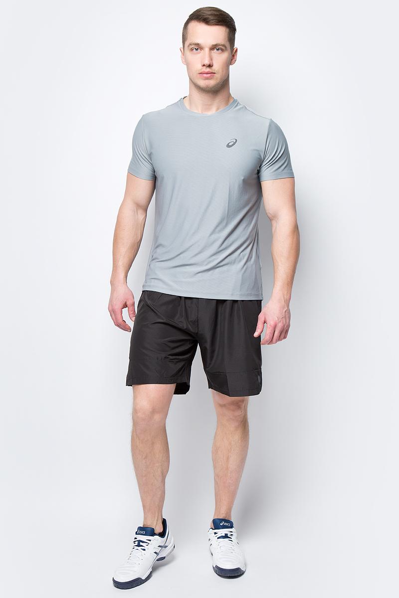 Шорты мужские Asics 7IN Short, цвет: черный. 154258-0779. Размер L (48)154258-0779Спортивные шорты для бега от Asics выполнены из высококачественного полиэстера. Модель с эластичной резинкой на талии.