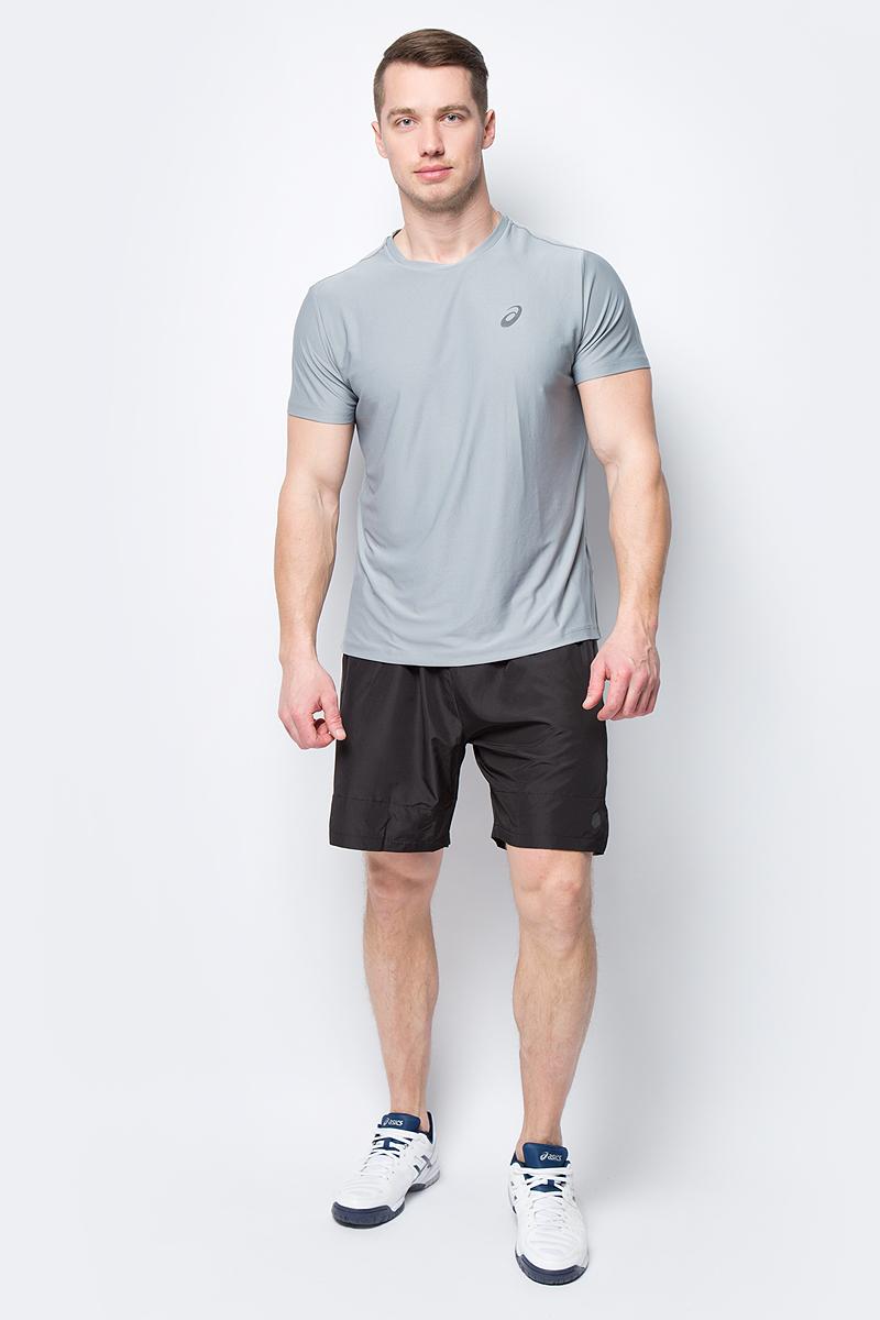Футболка мужская Asics SS Top, цвет: серый. 134084-0795. Размер XL (50)134084-0795Стильная мужская футболка для бега Asics SS Top, выполненная из высококачественного полиэстера, обладает высокой воздухопроницаемостью и превосходно отводит влагу от тела, оставляя кожу сухой даже во время интенсивных тренировок. Такая футболка великолепно подойдет как для повседневной носки, так и для спортивных занятий.Модель с короткими рукавами и круглым вырезом горловины - идеальный вариант для создания модного современного образа. Футболка оформлена светоотражающим логотипом на груди и контрастной полоской на спинке. Такая футболка идеально подойдет для занятий спортом и бега. В ней вы всегда будете чувствовать себя уверенно и комфортно.