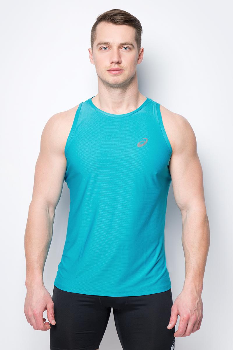 Майка мужская Asics Singlet, цвет: бирюзовый. 134082-8098. Размер XL (50) asics asics solid modified singlet