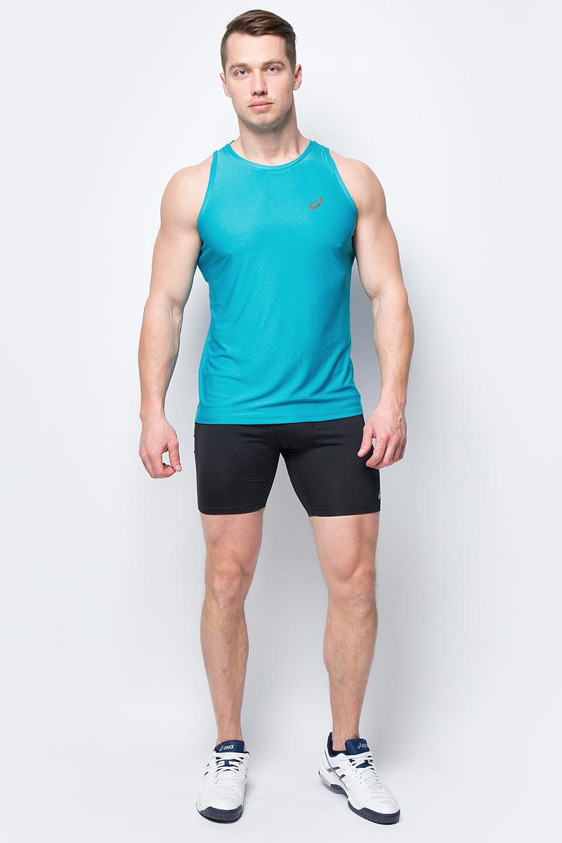 Майка мужская Asics Singlet, цвет: бирюзовый. 134082-8098. Размер L (48)134082-8098Майка мужская Singlet от Asics для легкой атлетики выполнена из качественной синтетической ткани, в состав которой входят волокна полиэстера, что обеспечивает материалу хорошие эксплуатационные характеристики - трикотаж хорошо тянется, не деформируется. Модель имеет удобный покрой без рукавов, что обеспечивает для тела высокий уровень комфорта. Округлая горловина, подшитая каймой, создает комфортную посадку, не натирает и не причиняет дискомфорта во время занятий. За счет хорошей вентиляции кожа обеспечивается необходимым количеством кислорода.