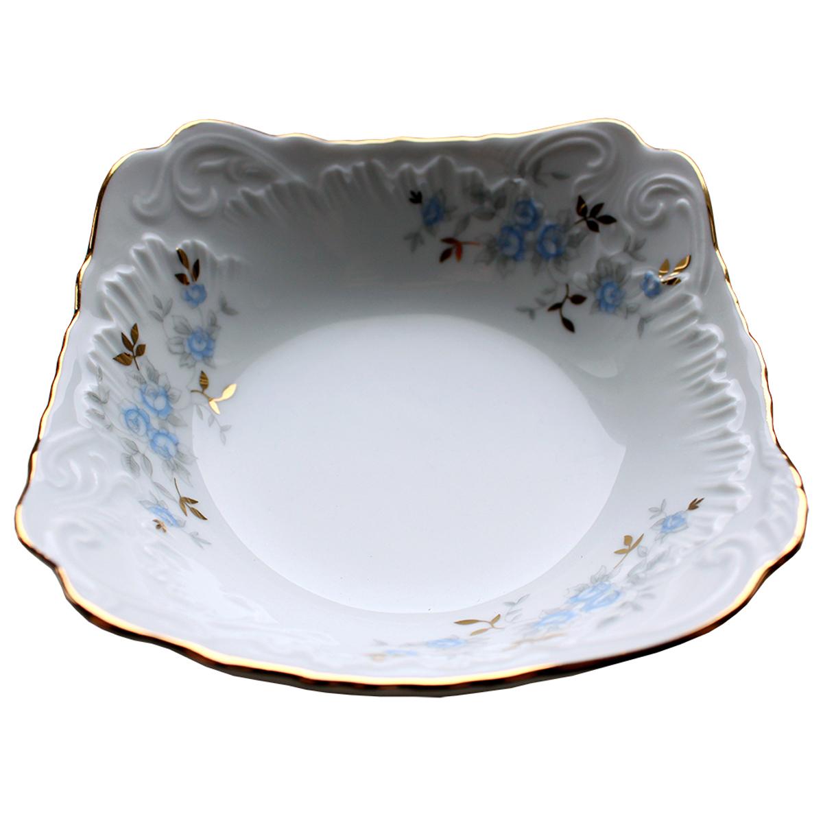Салатник Cmielow Rococo. Голубой цветок, диаметр 14 см столы