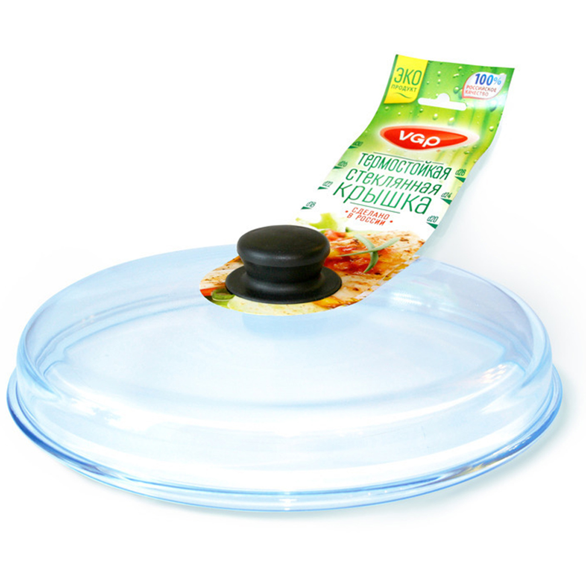 Крышка VGP, прессованная, высокая, диаметр 26 см0726Высокая прессованная крышка диаметром 26 см станет незаменимым аксессуаром для приготовления пищи на любой кухне. Она изготовлена из высококачественного жаропрочного стекла, а также оснащена бакелитовой ручкой, обеспечивающей не только комфорт, но и безопасное использование. Кроме того, данная модель подходит для мытья в посудомоечной машине. Крышка совместима с посудой диаметром 26 см.