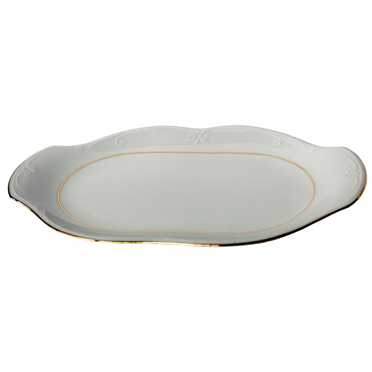 Блюдо Cmielow Kamelia, овальное, 33 см tanite victoir platineatine 1489 блюдо овальное 35 см цвет белый с платиной