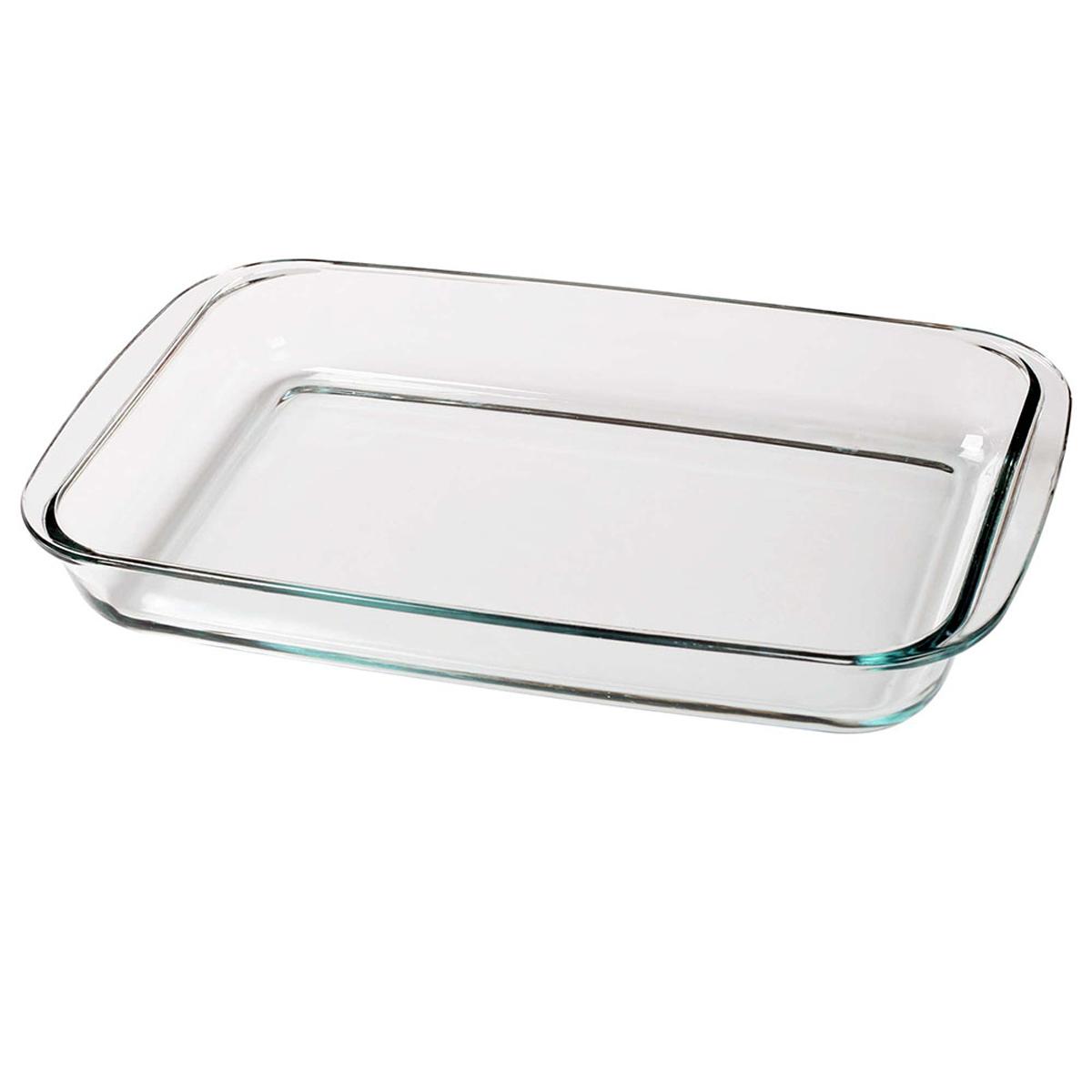 Прямоугольная форма для запекания объемом 2,4 л изготовлена из термостойкого и экологически чистого стекла. Изделие применяется для приготовления пищи в духовке, жарочном шкафу и микроволновой печи. Пригодно для хранения и замораживания различных продуктов.