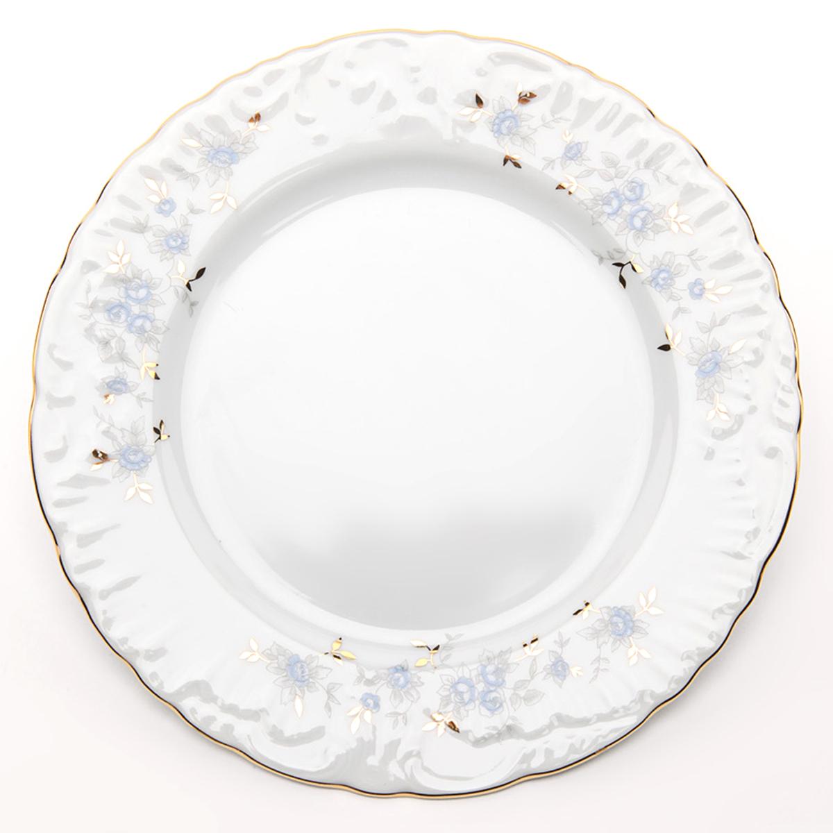 Фото - Тарелка десертная Cmielow Rococo. Голубой цветок, диаметр 17 см тарелка десертная cmielow rococo диаметр 17 см