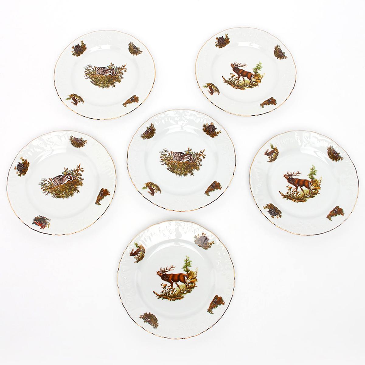 Фото - Тарелка десертная Cmielow Rococo. Охота, диаметр 19 см тарелка десертная cmielow rococo диаметр 17 см