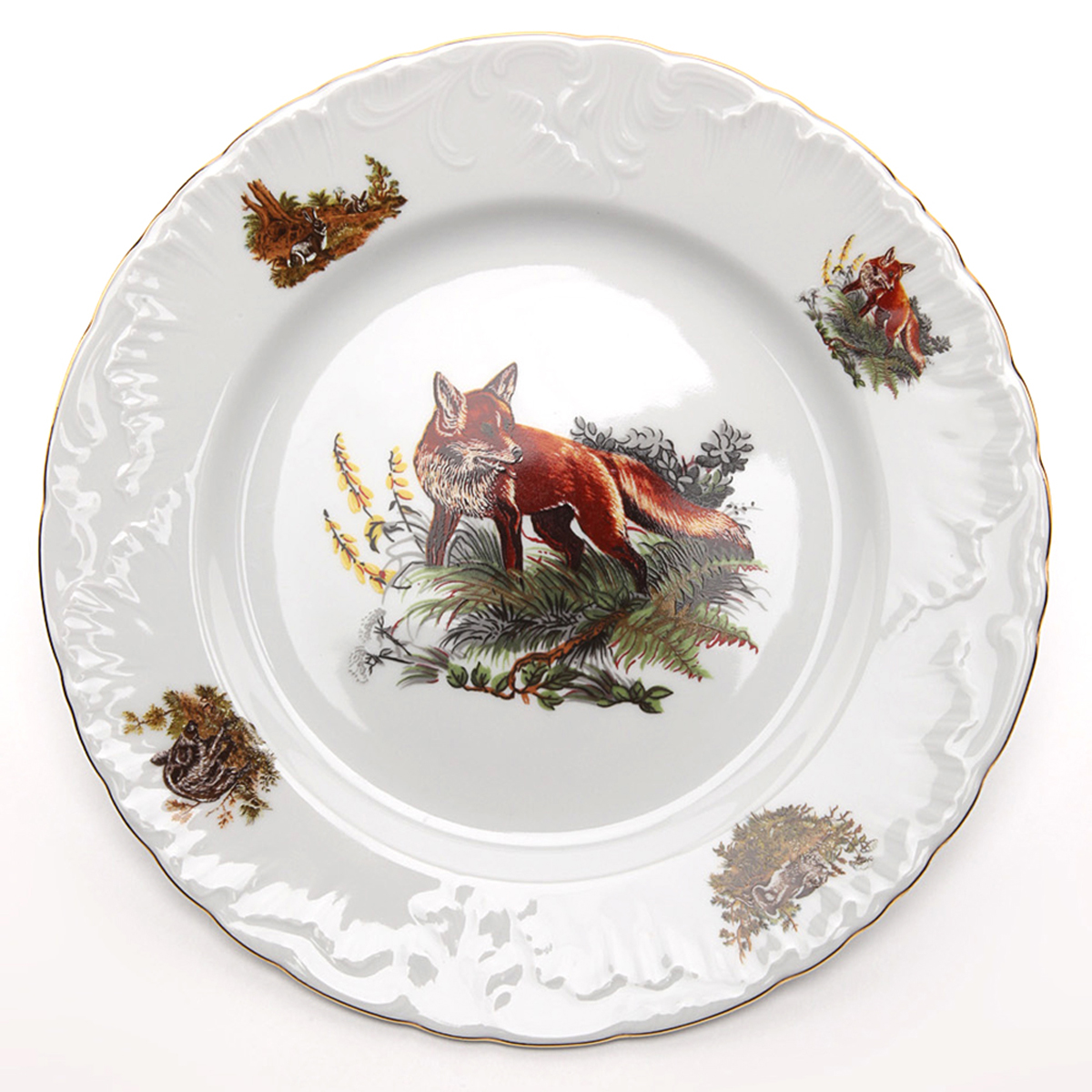 Фото - Тарелка мелкая Cmielow Rococo. Охота, диаметр 25 см тарелка десертная cmielow rococo диаметр 17 см