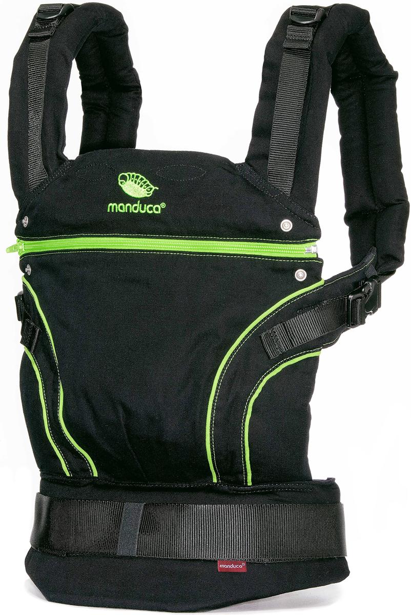 Manduca Рюкзак-переноска BlackLine в комплекте с накладками цвет зеленый